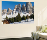 Geisler Mountains, Valley Villnoess, Dolomites, South Tyrol, Italy Posters af Martin Zwick