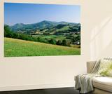 View of Rural Landscape, Pyrenees-Atlantiques, Pays-Basque, France Kunst af David Barnes