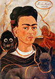 Self-portrait with Monkey Affischer av Frida Kahlo