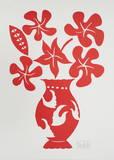 Vase I Rouge Kunst von Marco Del Re