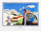 Rocky Mountains and Tired Indians Collectable Print by David Hockney