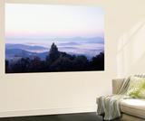 Mountains at Sunrise, Rockfish Gap, Blue Ridge Mountains, Virginia, USA Plakater af Walter Bibikow