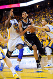 Oakland, CA - May 16: Tim Duncan, Festus Ezeli and Stephen Curry Photographic Print by Noah Graham
