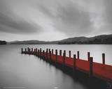 Wooden Landing Jetty - Red Posters