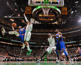 Boston, MA - January 24: J.R. Smith and Paul Pierce Fotografisk tryk af Brian Babineau