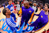 Los Angeles, CA - January 4: Chris Paul, Blake Griffin, Kobe Bryant and Pau Gasol Photographic Print by Andrew Bernstein