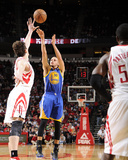 Houston, TX - February 5: Stephen Curry and Omer Asik Photographic Print by Bill Baptist