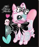 Tattoo Kitty Stretched Canvas Print by Miss Cherry Martini