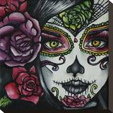 Day of the Dead Girl Stretched Canvas Print by Brittany Hanks