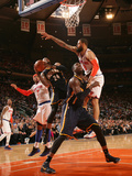 New York, NY - May 16: Paul George and Tyson Chandler Photographic Print by Nathaniel S. Butler