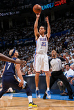 Oklahoma City, OK - May 15: Kevin Martin and Jerryd Bayless Photographic Print by Layne Murdoch