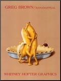 Bananappeal Monteret tryk af Greg Brown