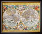 Antique Map, Orbis Terrarum, 1636 Posters by Jean Boisseau