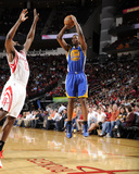 Houston, TX - February 5: Harrison Barnes and James Harden Photographic Print by Bill Baptist