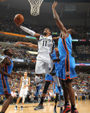 Memphis, TN - May 13: Mike Conley and Serge Ibaka Photographic Print by Joe Murphy