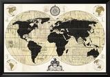 Vintage World Map Prints by Devon Ross