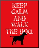 Keep Calm (Labrador) Mounted Print by Ginger Oliphant