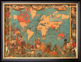 British Empire Map, 1886 Prints by M. P. Formerly