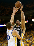 Oakland, CA - May 16: Tim Duncan and David Lee Photographic Print by Stephen Dunn