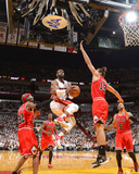 Miami, FL - May 15: Dwayne Wade, Richard Hamilton and Joakim Noah Photographic Print by Jesse D. Garrabrant