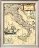 Italy Map Art