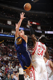 Houston, TX - February 5: David Lee and Patrick Patterson Photographic Print by Bill Baptist