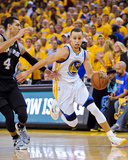 Oakland, CA - May 16: Stephen Curry and Danny Green Photographic Print by Noah Graham