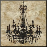 Chandelier I Mounted Print by Oliver Jeffries