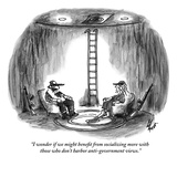 """""""I wonder if we might benefit from socializing more with those who don't h…"""" - New Yorker Cartoon Premium Giclee Print by Frank Cotham"""