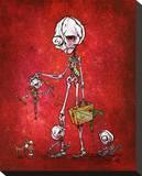 The Bogeymans Nightmare Stretched Canvas Print by David Lozeau