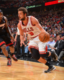 Chicago, IL - May 13: Marco Belinelli and LeBron James Photographic Print by Jesse D. Garrabrant