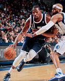 Dallas, TX - January 18: Kevin Durant and Vince Carter Photographic Print by Danny Bollinger