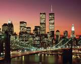 Brooklyn Bridge Night Posters