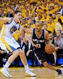 Oakland, CA - May 16: Tony Parker and Klay Thompson Photographic Print by Noah Graham