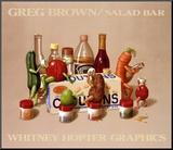 Salad Bar Monteret tryk af Greg Brown