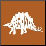 Stegosaurus Mounted Print