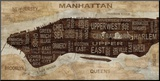 Manhattan Neighborhoods Mounted Print by Luke Wilson