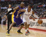 Los Angeles, CA - January 04: Chris Paul and Kobe Bryant Photographic Print by Harry How