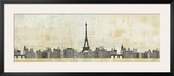 Eiffel Skyline Print by Avery Tillmon