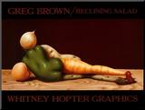 Reclining Salad Monteret tryk af Greg Brown