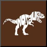 Tyranosaurus Rex Mounted Print