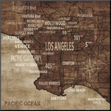 Map of Los Angeles Mounted Print by Luke Wilson