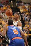 Indianapolis, IN - May 14: Paul George and J.R. Smith Photographic Print by Ron Hoskins