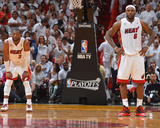 Miami, FL - May 15: Dwyane Wade and LeBron James Photographic Print by Jesse D. Garrabrant