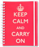 Keep Calm and Carry On Red Journal Journal