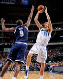 Dallas, TX - January 18: Dirk Nowitzki and Serge Ibaka Photo by Glenn James