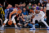 Dallas, TX - January 18: Russell Westbrook and O.J. Mayo Photographic Print by Glenn James