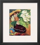 Red Shoe Lily Posters by Linda Carter Holman