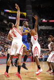 Houston, TX - February 5: Carl Landry, Greg Smith and James Harden Photographic Print by Bill Baptist