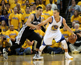 Oakland, CA - May 16: Stephen Curry and Danny Green Photographic Print by Stephen Dunn